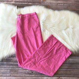 Lilly Pulitzer Palm Beach Fit Linen Pant Sz 12